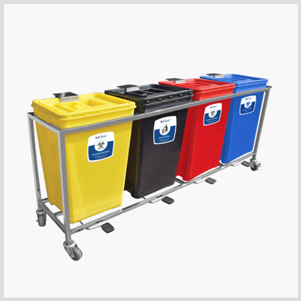 Waste Segregation Trolley Manufacturer Hospital Waste