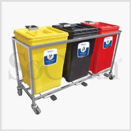 Waste Segregation System 3 Bin ( 30 Ltr)