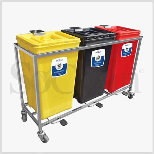 Waste Segregation Trolley Manufacturer Hospital Waste