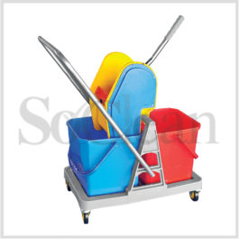 Wringer Mop Trolleys - Double Bucket 36 Ltrs.